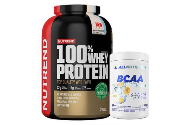 Nutrend 100% Whey protein + Allnutrition Bcaa Instant